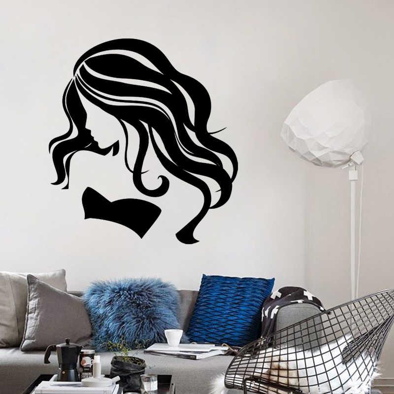 セクシーな髪美容師美容サロン理髪店diy壁紙取り外し可能なビニールホームインテリアアートウォールステッカーJG1335