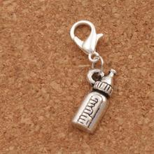 Milk Bottle Lobster Claw Clasp Charm Beads 30.2x7.5mm 100pcs Tibetan silver Jewelry DIY C404 triangular arrow lobster claw clasp charm beads 24 4x4 6mm 200pcs tibetan silver jewelry diy c462