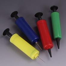 цена на Mini Two kinds of needles Ball Pump balloon accessories inflator hand push Air Pump Party Supplies portable foil balloons pump