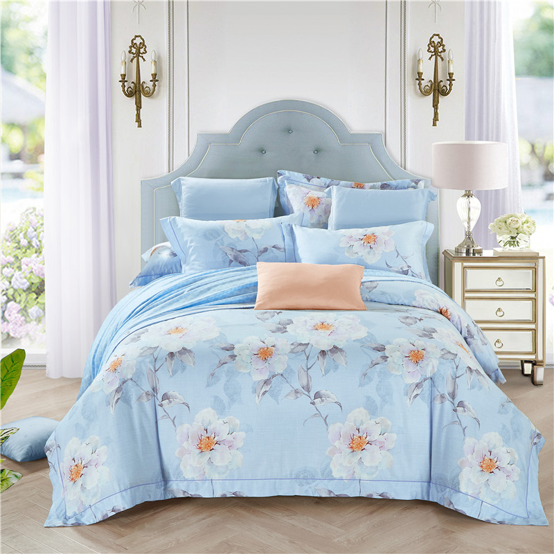 Bright Colored Spring Floral Cherry Blossoms Bedding Sets