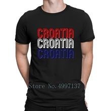 c794bd1d6 Croatia Soccer Jersey Shirt Retro T Shirt Loose Casual Cotton Spring Autumn  Homme Letter Custom O