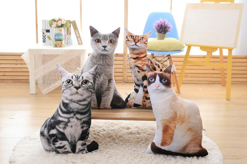 1pcs 50cm Soft 3D Simulation Stuffed Cat Toys Double-side Seat Sofa Pillow Cushion Cute Plush Animal Cat Dolls Toys Gifts (2)