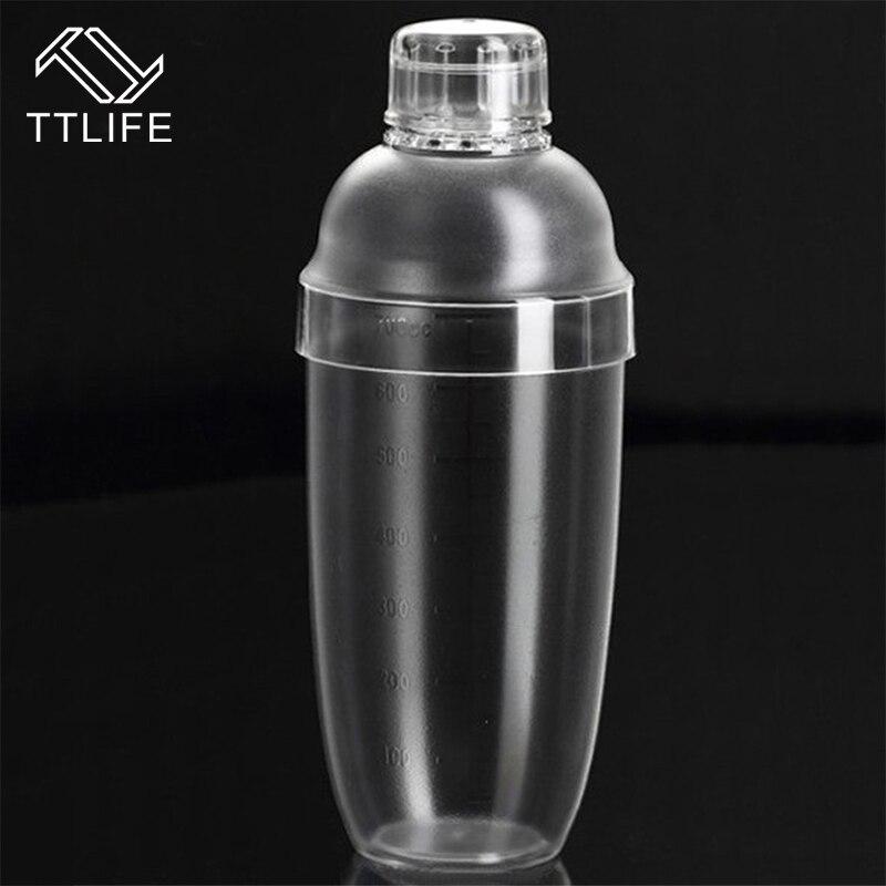 TTLIFE 4 größe Outdoor Transparent Gute Griffe Kunststoff Kein Rost Milch Tee Cocktail Shaker Mischen Tasse Drink Mixer Bar Bartending werkzeug
