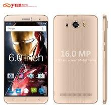 YUNSONG S10 Плюс 6.0 дюймов QHD Экран Мобильного Телефона 16.0MP камера MTK6580 Quad Core Dual Sim Мобильный Телефон GSM/WCDMA 3 Г смартфон(China (Mainland))