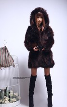 Free shipping New genuine real raccoon fur coat women long natural fur jacket Luxurious winter waistcoats