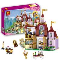37001 Beauty And The Beast Princess Belle S Enchanted Castle Building Blocks Girl Friends Kids Model