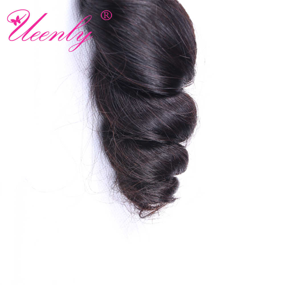 """UEENLY Brazilian Hair Weave Bundles Remy Loose Wave 3/4 Bundles 100% Human Hair Extensions 8""""-28"""" Inch Double Weft"""