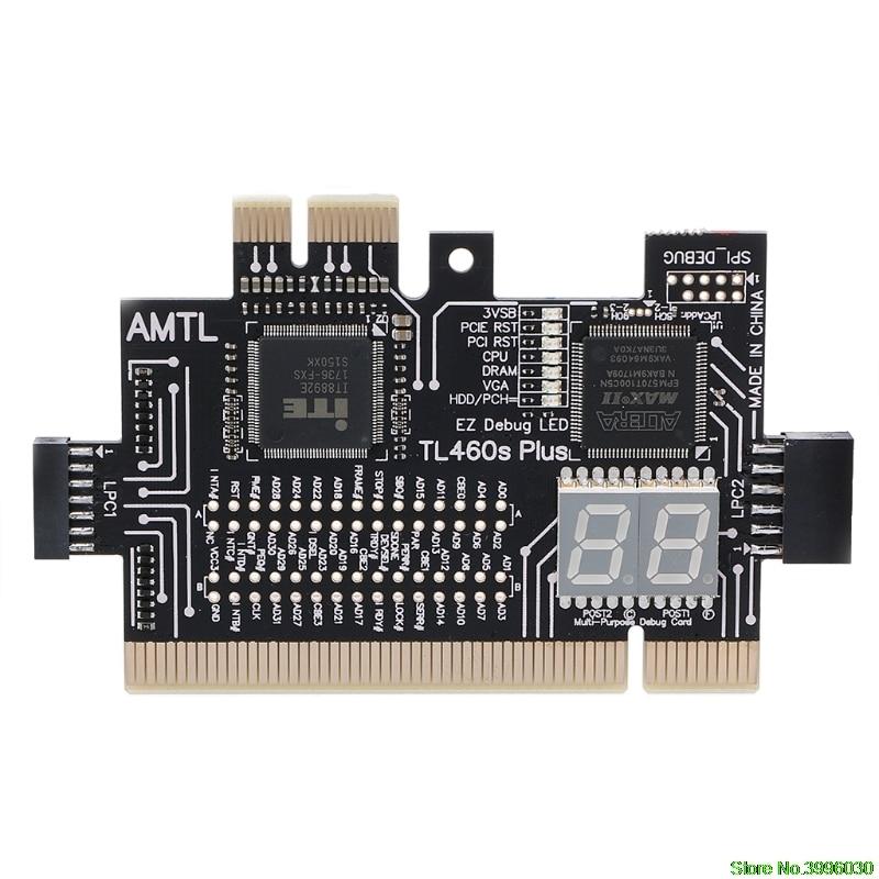 Analyzer Diagnose LPC-DEBUG Karte PCI PCI-E LPC-Debug-Post Test Kit Motherboard