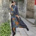 Calças de moda de nova mulheres nacional vento elegante impressão virilha harem calças Hip hop calças MQ-50