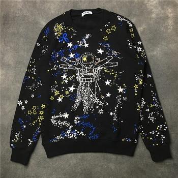 New luxury Men gentleman Star universe space Kenye Hoodies Hoody hooded Sweatshirts velvet Cotton Drake Thicken Fleece #E65