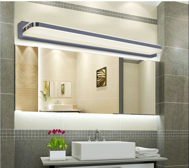 buy 120cm led bathroom wall light lamps modern wall mounted bar decoration lights ac 110v220v bathroom mirror tops light from reliable