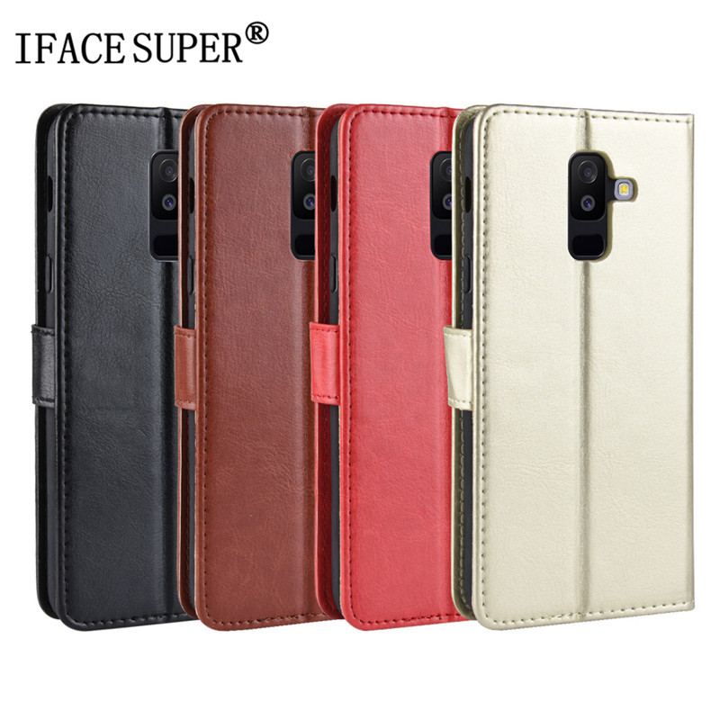For Samsung Galaxy A6 Plus 2018 Case Samsung A6 2018 Wallet style Leather Cover Phone Flip Case For Samsung A6PLUS A6 2018