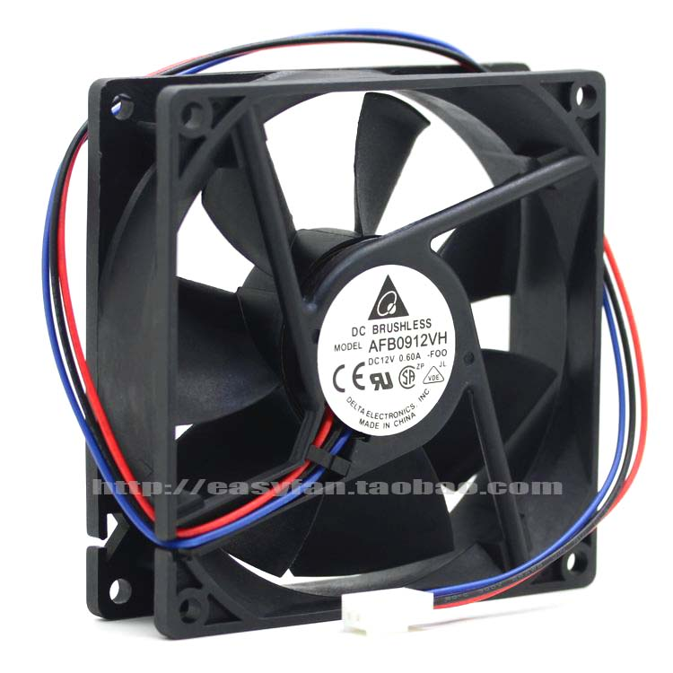 Delta AFB0912VH F00 DC 12V 0.60A 90x90x25mm Server Square fan