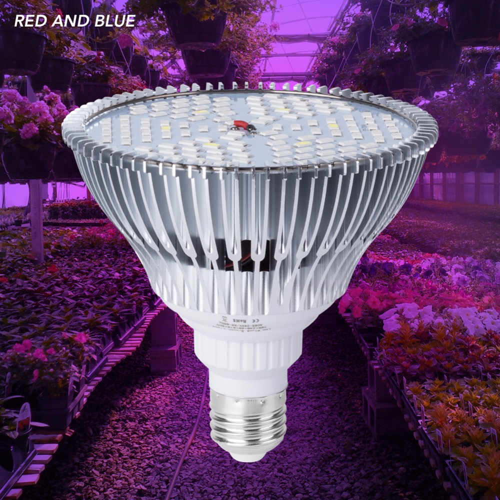 2PCS LED Grow Lamp E27 Plant Grow LED Light Full Spectrum 220V UV Lamp For Plants 30W 50W 80W Phyto LED Light Bulb Seedling 110V