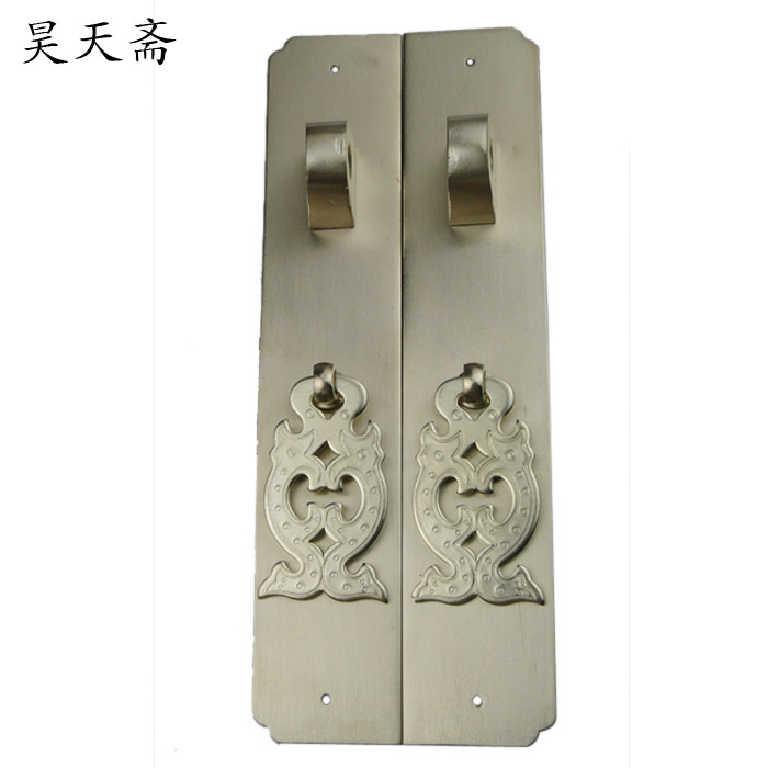 [Haotian vegetarian] Chinese antique copper door handle handle HTC-238 nickel alloy models [haotian vegetarian] antique copper door latch tie lock pin nose section hth 126 nickel alloy hammers