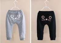 LOONGBOB 2016 Baby Boys Girls Pants Toddler Cartoon Cat Trousers Infant Kids Boy Girl Harem Pants Children Soft Cotton Clothes