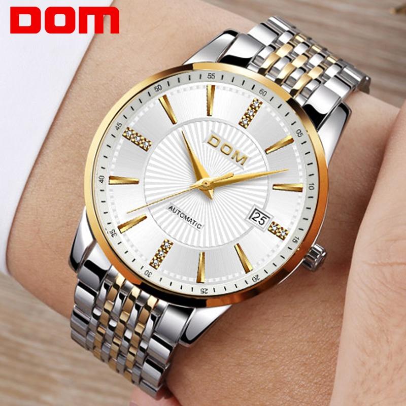 2018 Nuevo Relojes DOM Masculino Automático mecánico Reloj - Relojes para hombres - foto 1