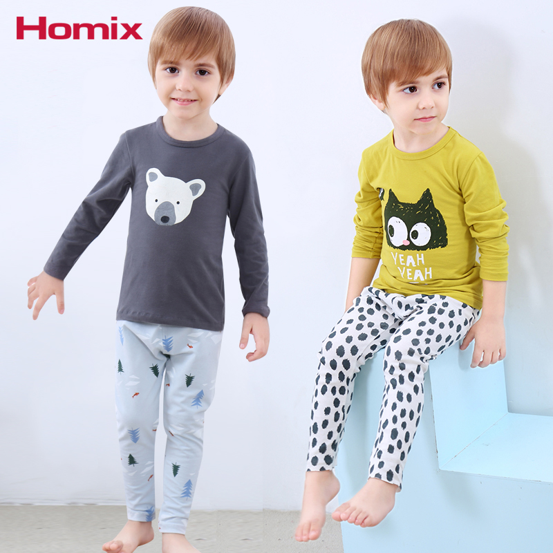 купить Boys Pajamas Sets 2-10Years Pyjamas kids Pajamas Cartoon Nightwear Children Clothes Pijamas Clothing по цене 912.53 рублей