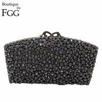 Gift Box 5Colors Wedding Bags And Evening Bag Diamond Crystal Ladies Metal Minaudiere Clutch Purse Handbag