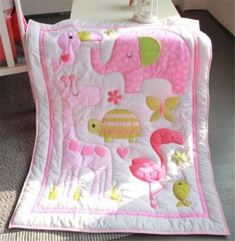 5Pcs Cotton Cartoon Baby Crib Cot Bedding Quilt Baby Bumper Sheet Dust Ruffle @ Baby Bedding Set discount 9pcs full set baby crib bedding set cot bedding sets cot bedding set 4bumper sheet pillow duvet 120 60 120 70cm