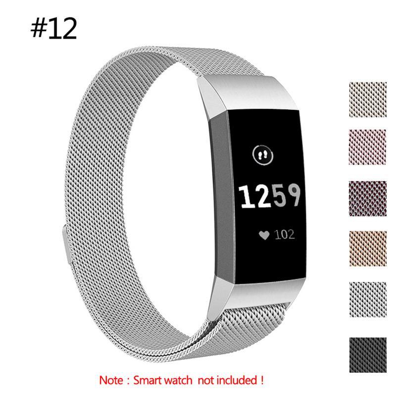 Neueste Premium Milanese Ersatz Edelstahl Uhr Band Handgelenk Band für Fitbit Charge3 Smart Uhr für Fitbit Gebühr 3