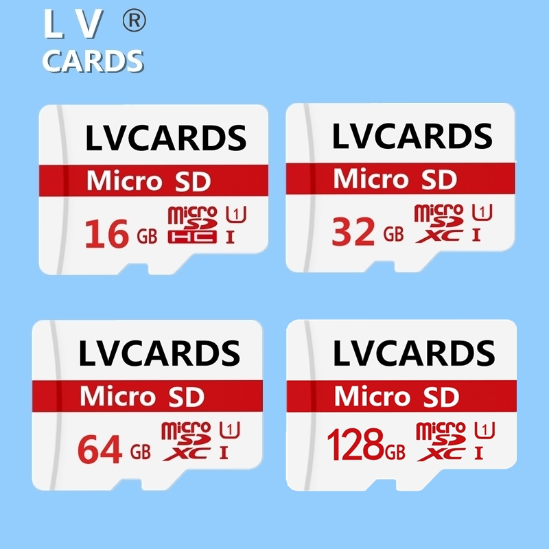 LVCARDS14 Micro Sd Card 16gb 32gb 64gb U1 Microsd 128gb Memory Card USH-3 MAX 95M/s Tf Cards With Card Reader For Phones SI9