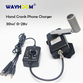 Hand Crank Generator 30W Small Dynamo Military Outdoor Emergency Phone Charger With DC-DC Voltage Converter 0-28V