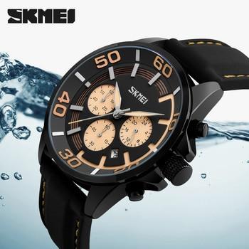 6b2e6dd8cb87 Azul del reloj SKMEI reloj de cuarzo para hombres marca de lujo famoso  reloj hombre reloj de pulsera reloj relojes deportivos militares Relogio  Masculino