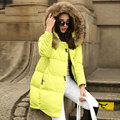 2017 Winter Women Jacket Solid Long Down Coat Thickening Warm Fur Collar Parka Coat Plus Size S-4XL Female Outerwear Jacket Y289