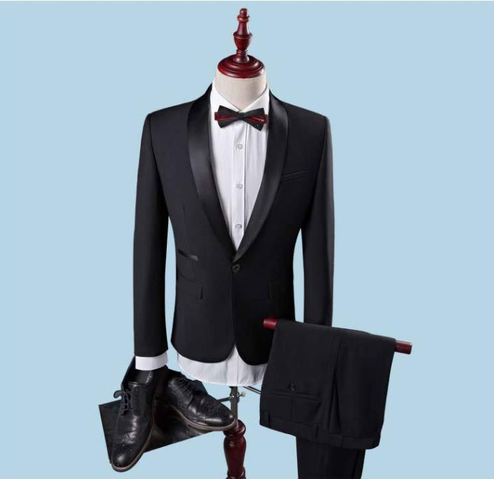<font><b>2018</b></font> <font><b>Wedding</b></font> Groom <font><b>Suit</b></font> With Tuxedo Pants For <font><b>Men</b></font> <font><b>Wedding</b></font> <font><b>Suits</b></font> Prom Best Man <font><b>Suit</b></font> (Jacket + Pants +Vest) <font><b>terno</b></font>) image