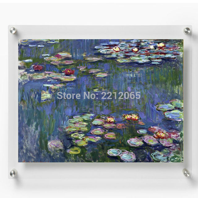 A3 Double Panel Wall Mounted Floating Acrylic Picture Frame For A3