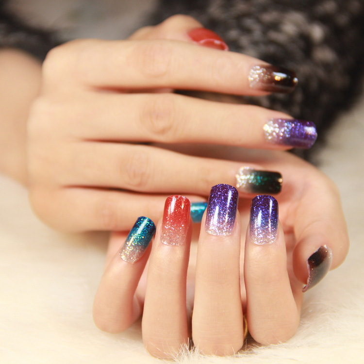 holographic 18 Colors Mix UV Gel Nail Glitter Dust Powder For UV GEL ...