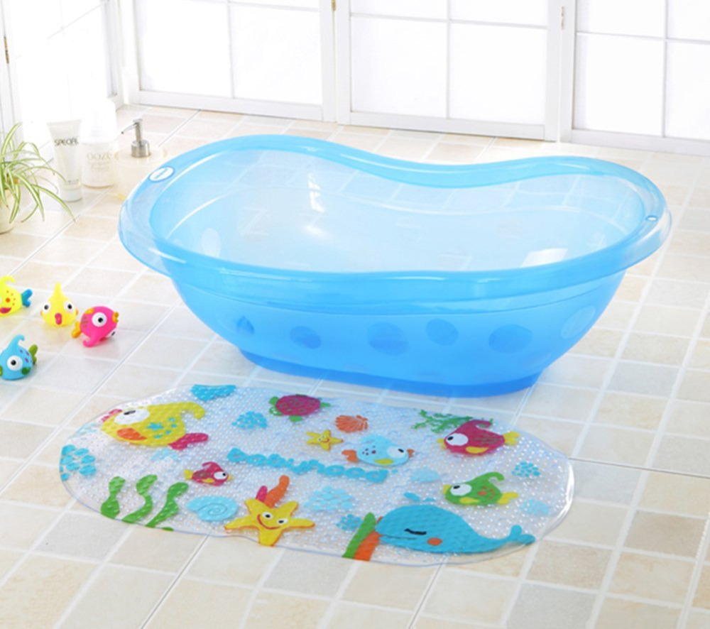 39cmx69cm Non Slip Bath Tub Mat Kids Tub or Shower Floor Mat Safe ...