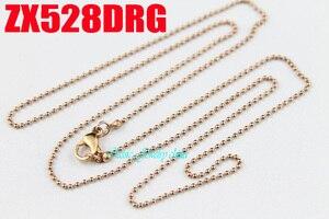 Image 5 - Rosa cor de ouro 1.2mm cadeia de bola com fecho da lagosta colar de contas correntes de aço inoxidável moda jóias 20 pcs ZX528DRG