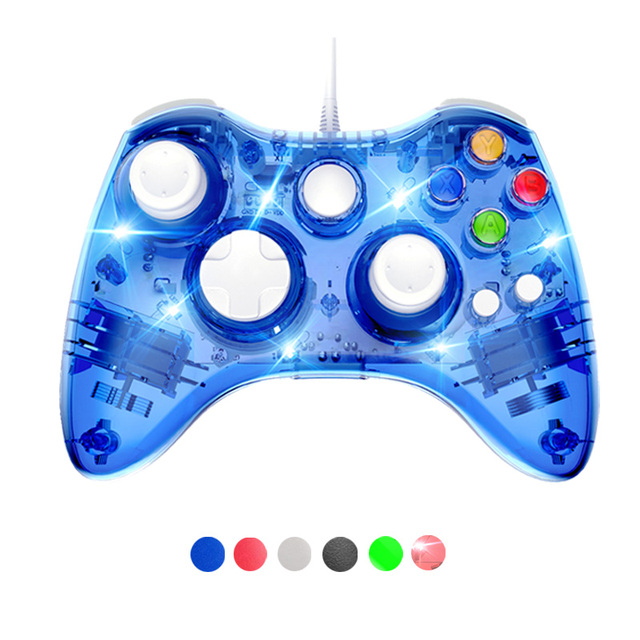 ل Xbox 360 USB السلكية جهاز التحكم في عصا التحكم لمايكروسوفت Xbox360 غمبد كونترول