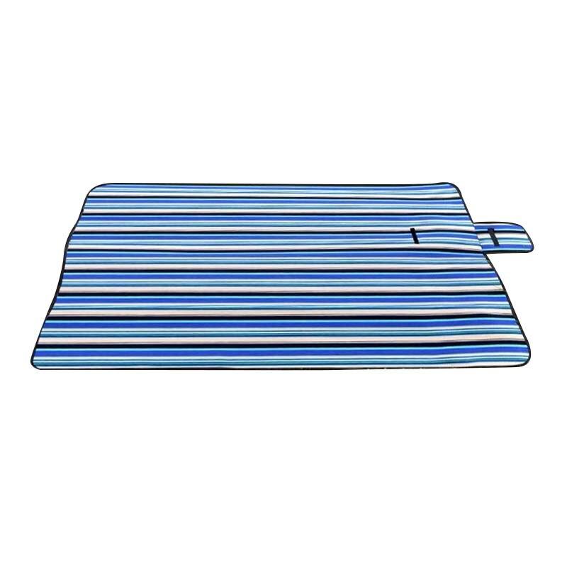 Очень большой пикник Одеяло Ковры Коврики Водонепроницаемый Ковры путешествия отдых пляж детская синяя в полоску
