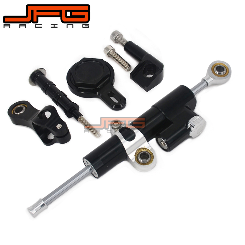 CNC Steering Damper Stabilizer Linear Reversed Safety Control & Adapter Bracket For YAMAHA YZFR1 YZF-R1 YZF R1 1999-2005 cnc steering damper stabilizer linear reversed safety control & adapter bracket for honda cb400 cb 400 vtec 1999 2000 2001 2012