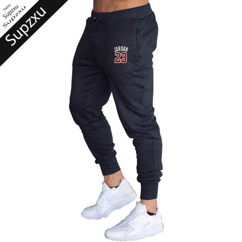 48bab16b0b1711 New Men Sweatpants 23 Jordan printing Joggers pants Fall Sportswear Leisure  cotton black pants pantalon homme