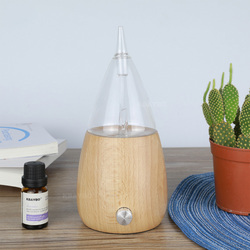 Creative Aroma Diffuser Wooden Glass Air Humidifier  Aromatherapy Air Humidifier Ultrasonic Night Colorful Lights Mist Maker
