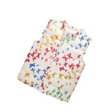 Winter Newest Butterfly Printed Girl Sleeveless Waistcoat Cotton Vest Infant Coat Casual Children Jacket
