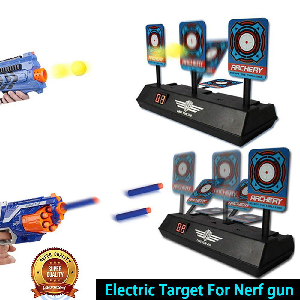 DIY High Precision Scoring Auto Reset Electric Target For Nerf Gun Accessories Toys For Outdoor Fun Sports New Year Gifts TSLM1