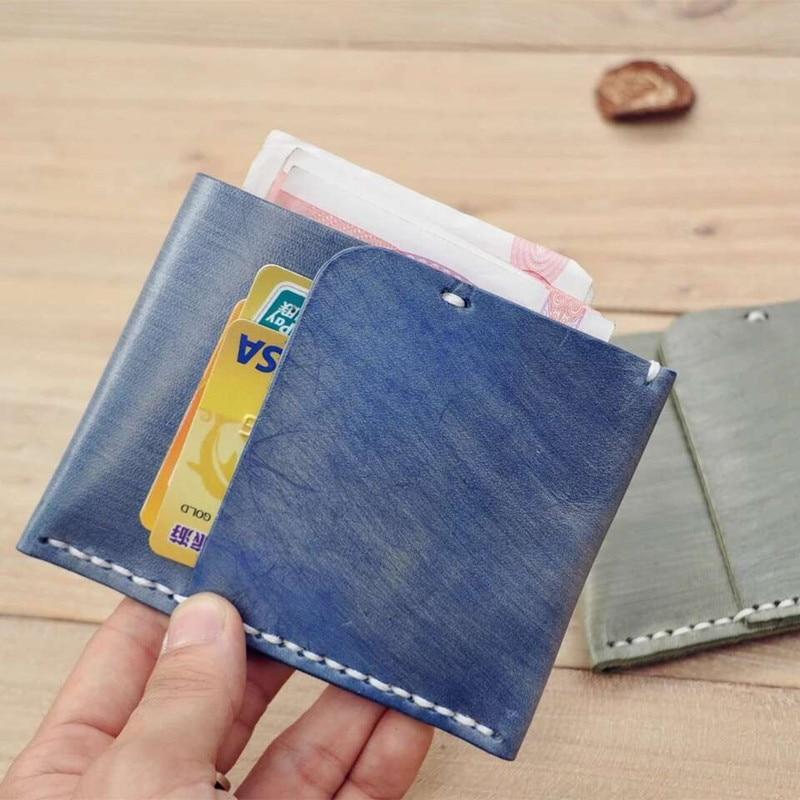 Topkwaliteit wax leer vrouwelijke portemonnees pocket portemonnee - Portemonnees en portefeuilles