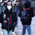 BTS, JIMIN с пуленепробиваемые куртки на молнии и бейсбол едином стиле вышитые бархат свитер