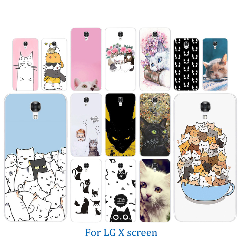 premium selection cfc61 7049a Soft TPU Case For LG X Screen / X View K500N K500DS Luck Cat Pattern Soft  Silicone Case Cover For LG X Screen Phone Cases