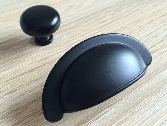 Dresser Knobs Drawer Pulls Handles Knobs Rustic Black Retro Decorative  Furniture Cabinet Pull Handle Bin Cup 2.75 70 Mm