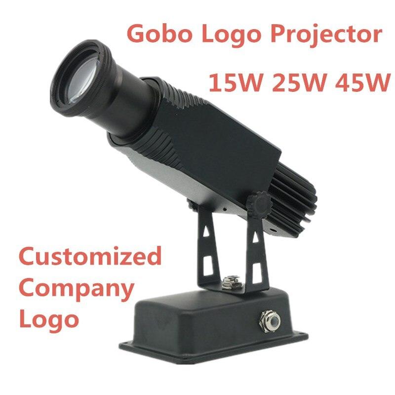 Alta calidad LED personalizado lmage Gobo logo proyector 15 W 25 W 45 W tienda centro comercial imagen de publicidad lámpara luz estática restaura
