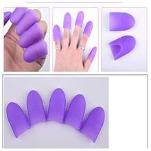 5 шт/компл отмачиваемый колпачок для дизайна ногтей силиконовый