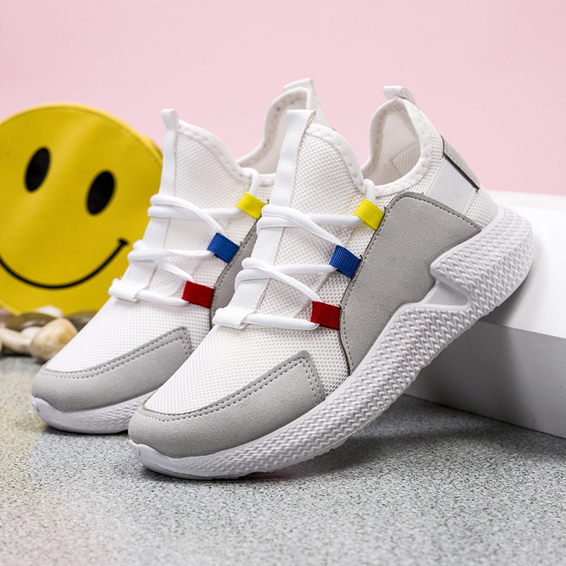 2019 big children 39 s sports shoes spring new boys and girls trend flying woven shoes girls fashion mesh shoes in Sneakers from Mother amp Kids