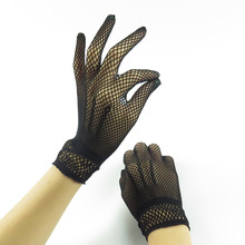 Women Lace Gloves Summer Driving Dance Gloves Mesh Fishnet Glove for Girls Black White Mittens Guantes summer sunscreen silk sleeves drive womens sexy thin gloves summer lace gloves driving lace guantes guantes sin dedos para mujer