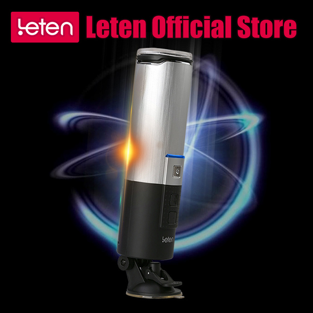 LETEN Sex Toys For Men 4D Vagina For Men Aircraft Cup Automatic Retractable 120 Rotating Rechargeable Male Masturbator